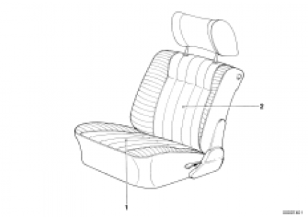 Seat cover front
