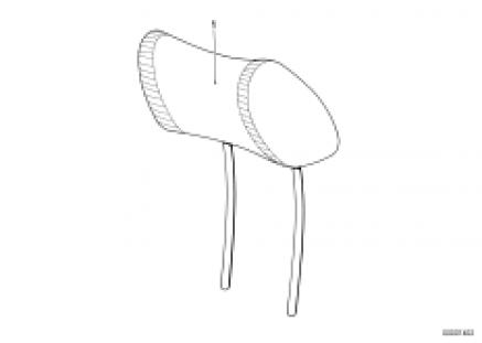 Headrest front,adjustable