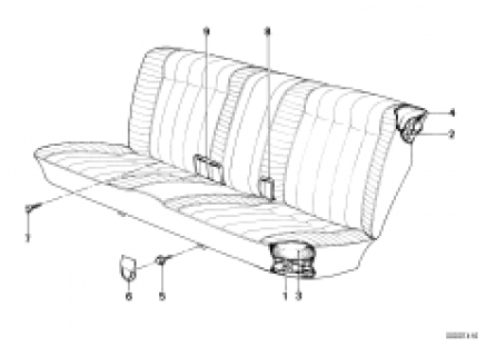 Seat Spring frame/frame pad rear