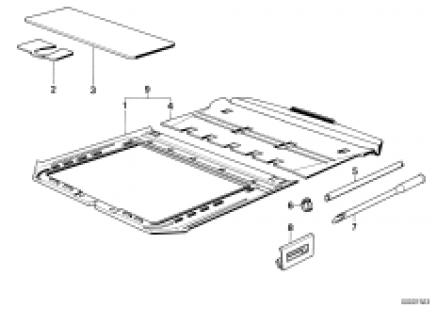 Trim sliding lifting roof