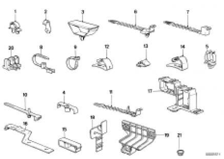 Cable clamps/cable holder