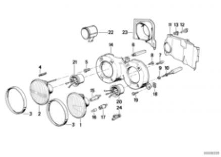 Single parts f conventional headlight