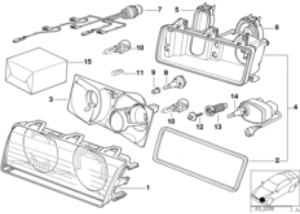 Single components for headlight Bosch