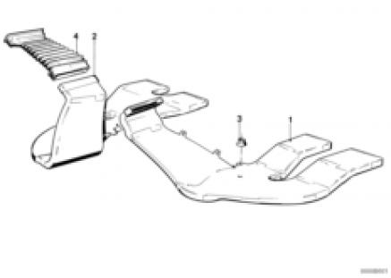 Rear heater duct