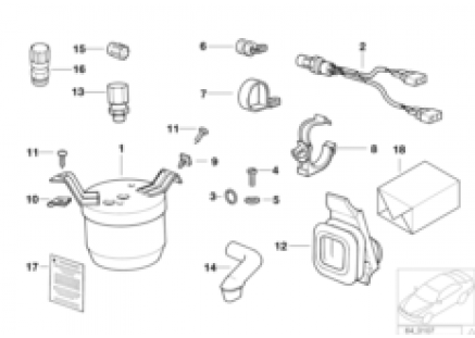Drying container/small parts