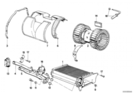 Heater radiator/blower