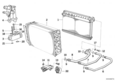 Heater radiator/evaporator/wden cable