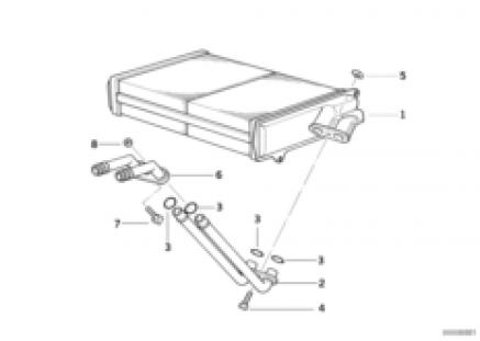 Heater radiator Behr