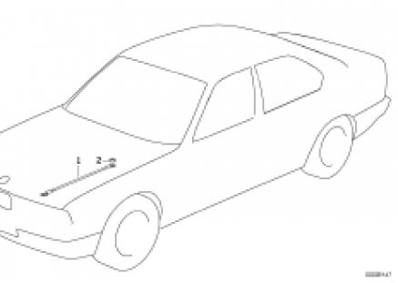Earth strap for engine hood