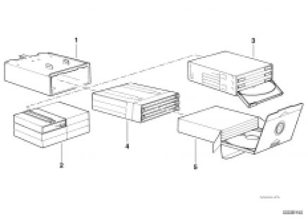CD-box/cassette box in glove box