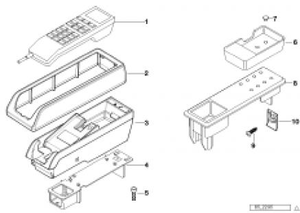 Single parts f centre console telephone