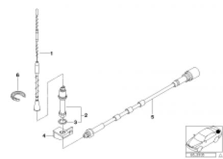 Single parts f side panel teleph.antenna