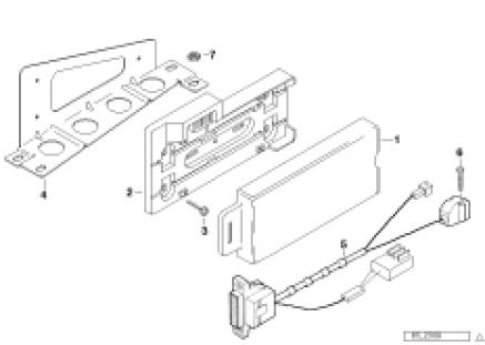 Single parts f trunk car telephone