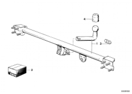 Trailer hitch/electr.attaching parts