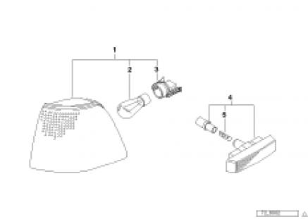 Install.kit turn indicators,front, white