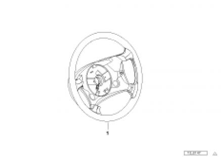 Leather-covered steering wheel rim III