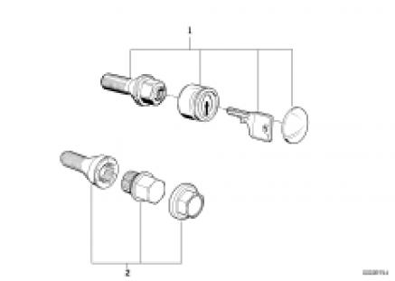 Wheel bolt lock