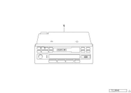 Cassette/radio with CD control