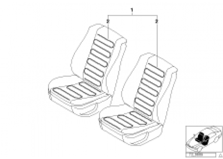 Installing set heated seat front