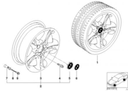 BMW light alloy wheel, double spoke 47