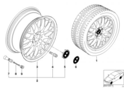BMW light alloy wheel, cross spoke 42