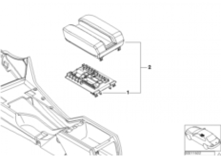 Individual center armrest for telephone