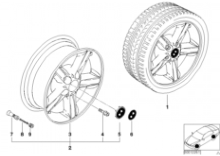 BMW light-alloy wheel star spokes 43