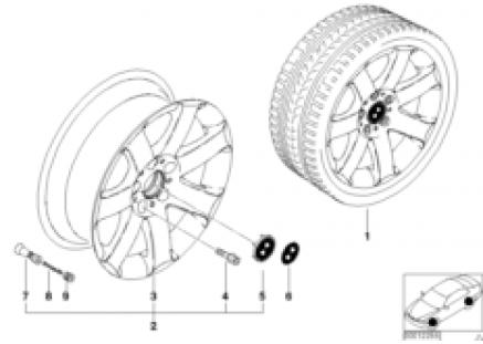 BMW light-alloy wheel star spokes 44