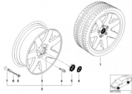 BMW light-alloy wheel star spokes 45