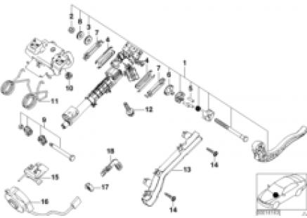 Steering column-adjustable/single parts