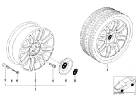 BMW light alloy wheel, double spoke 51