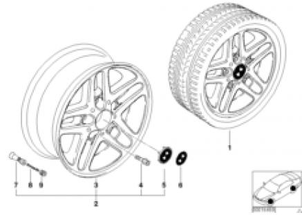 BMW light alloy wheel, double spoke 53
