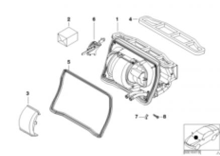 Housing parts, heater Behr