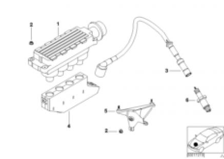 Ignition coil/spark plug