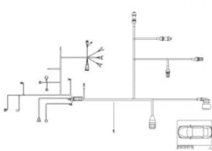 wiring harness, engine trans. module