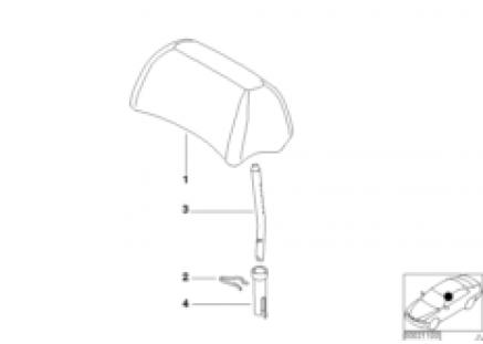 Rear seat head restraint