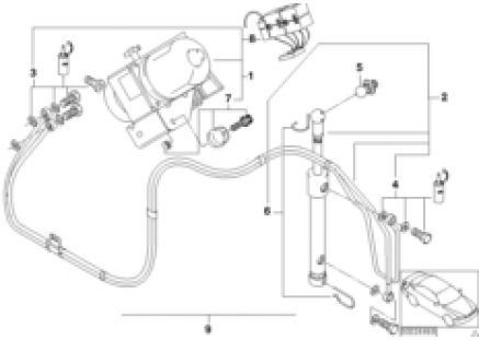 Electro-hydraulic folding top parts