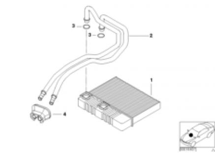 Heater radiator air conditioning