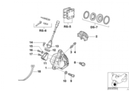 Front wheel brake, ABS
