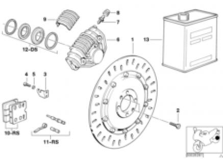 Disk brake, rear