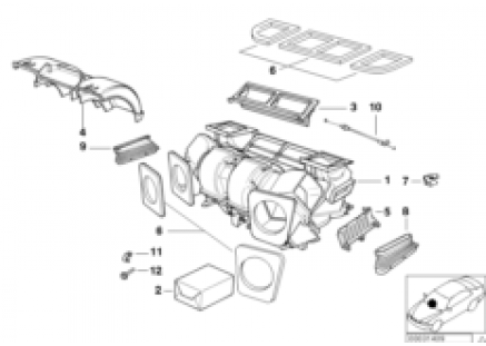 Housing parts - air conditioning