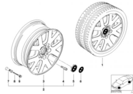 BMW LA wheel, V spoke 54