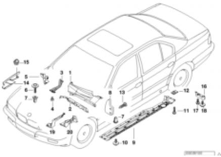 Body parts/floor panel/engine compartm.