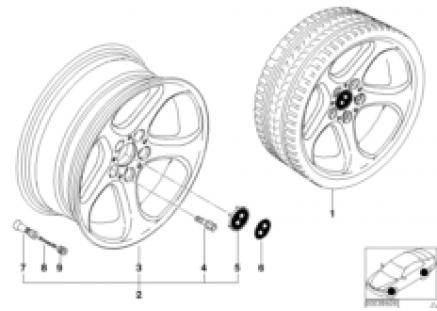 BMW LA wheel, star spoke 69