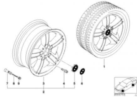 BMW light alloy wheel, star spoke 55