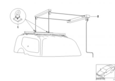 Adapter (universal lift) for hood