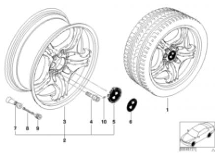 BMW alloy wheel, M double spoke 68