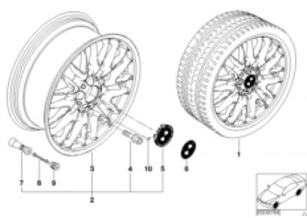 BMW LA wheel, V spoke 72