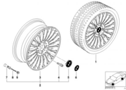 BMW LA wheel, radial spoke 73