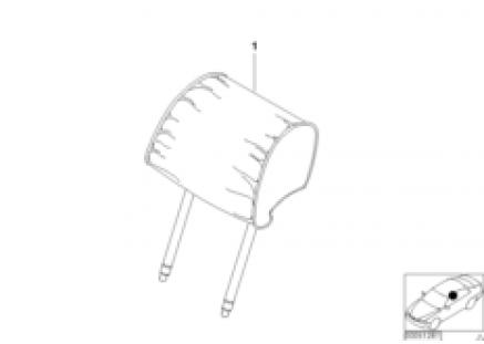 Indiv. headrest, comfort seat, leather